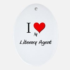 I Love My Literary Agent Oval Ornament