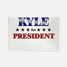 KYLE for president Rectangle Magnet