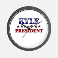 KYLE for president Wall Clock