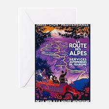 France - La Route Des Alpes - Vintage Travel Poste