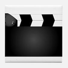 Blank Movie Clapperboard Tile Coaster
