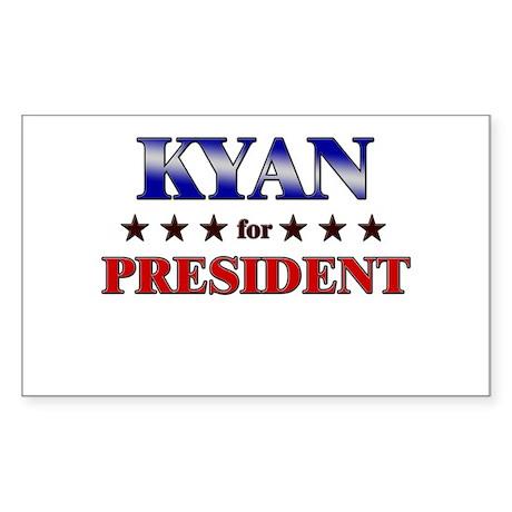 KYAN for president Rectangle Sticker