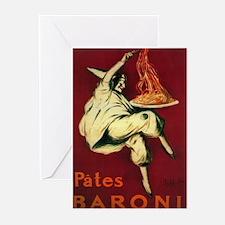 Pates Baroni - Vintage Promotional Poster Greeting