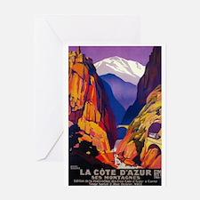 France - La Cote D'Azur - Vintage Travel Poster Gr