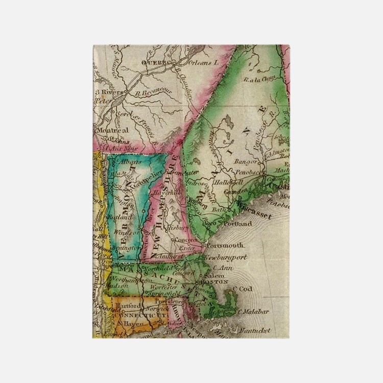 Cute New england Rectangle Magnet