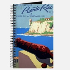 Vintage Discover Puerto Rico WPA Travel Journal