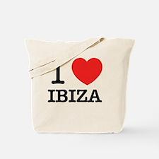 Cute I love ibiza Tote Bag