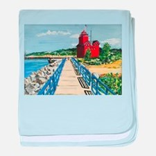 Big Red Welcome baby blanket