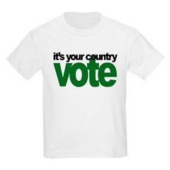 IT'S YOUR COUNTRY - VOTE Kids T-Shirt