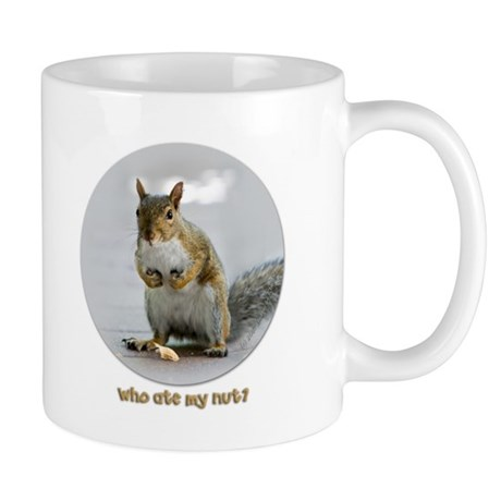Funny Squirrel Coffee Mug ~ Who ate my nut?