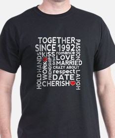 1992 anniversary couples T-Shirt