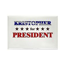 KRISTOPHER for president Rectangle Magnet