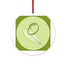 Leaves Monogram O Ornament (Round)