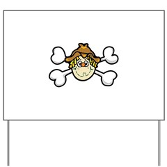 Silly Scarecrow Crossbones Design Yard Sign
