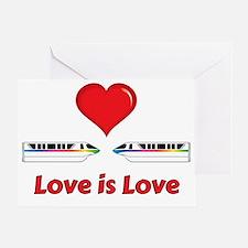 Cute Monorail Greeting Card