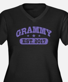 Grammy Est. Women's Plus Size V-Neck Dark T-Shirt