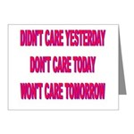 Don't Care! Note Cards (Pk of 20)