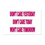 Don't Care! Mini Poster Print