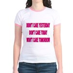 Don't Care! Jr. Ringer T-Shirt