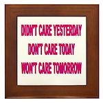 Don't Care! Framed Tile