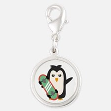 Skateboard Penguin Charms