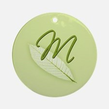 Leaves Monogram M Ornament (Round)
