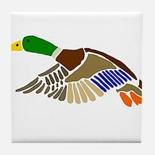 Artsy Mallard Duck Tile Coaster