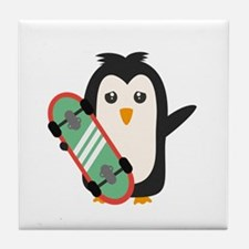 Skateboard Penguin Tile Coaster