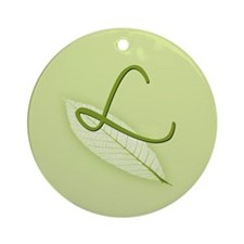 Leaves Monogram L Ornament (Round)