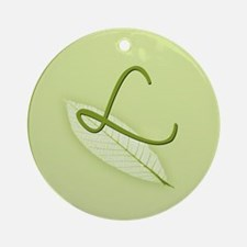 Leaves Monogram L Ornament (Round)
