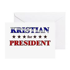KRISTIAN for president Greeting Card