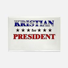 KRISTIAN for president Rectangle Magnet