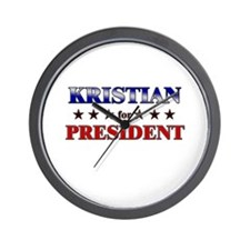 KRISTIAN for president Wall Clock