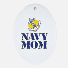 Funny Usnavy Oval Ornament