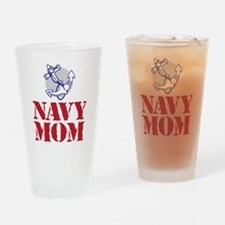 Cool Navy mom Drinking Glass