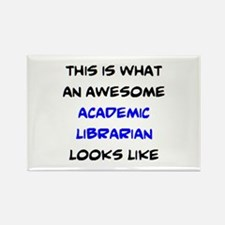 awesome academic librarian Rectangle Magnet