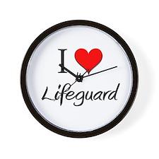 I Love My Lifeguard Wall Clock