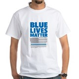 Blue lives matter Mens Classic White T-Shirts