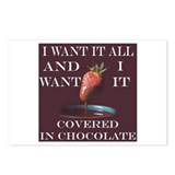Chocolate strawberry Postcards