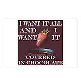 Chocolate strawberry Postcards