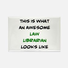 awesome law librarian Rectangle Magnet
