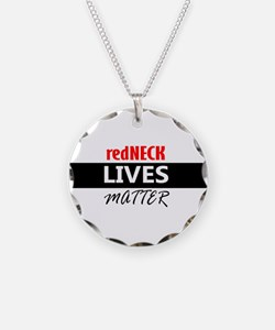 redNECK lives Matter Necklace Circle Charm