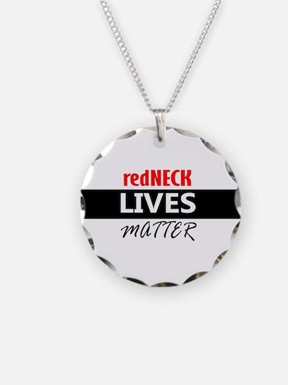 redNECK lives Matter Necklace Circle Charm