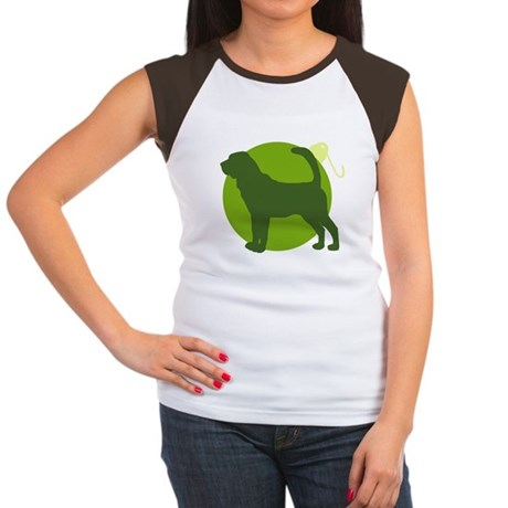 Bloodhound Ornament Women's Cap Sleeve T-Shirt