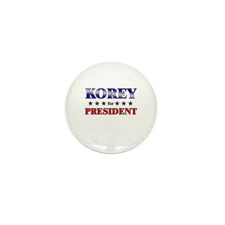 KOREY for president Mini Button