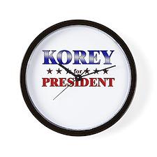 KOREY for president Wall Clock