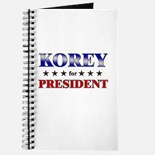 KOREY for president Journal