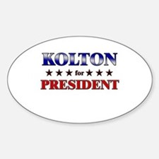 KOLTON for president Oval Decal