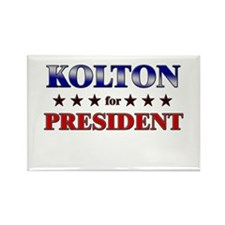 KOLTON for president Rectangle Magnet