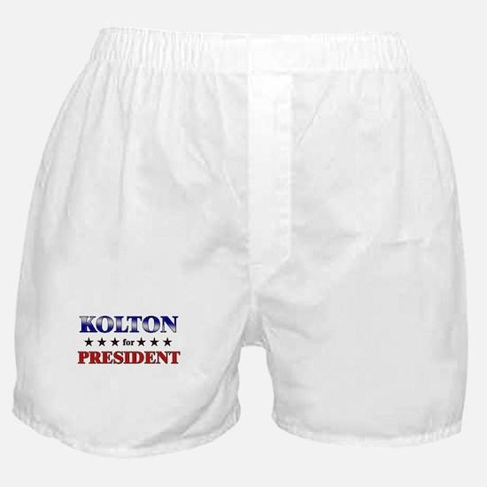 KOLTON for president Boxer Shorts